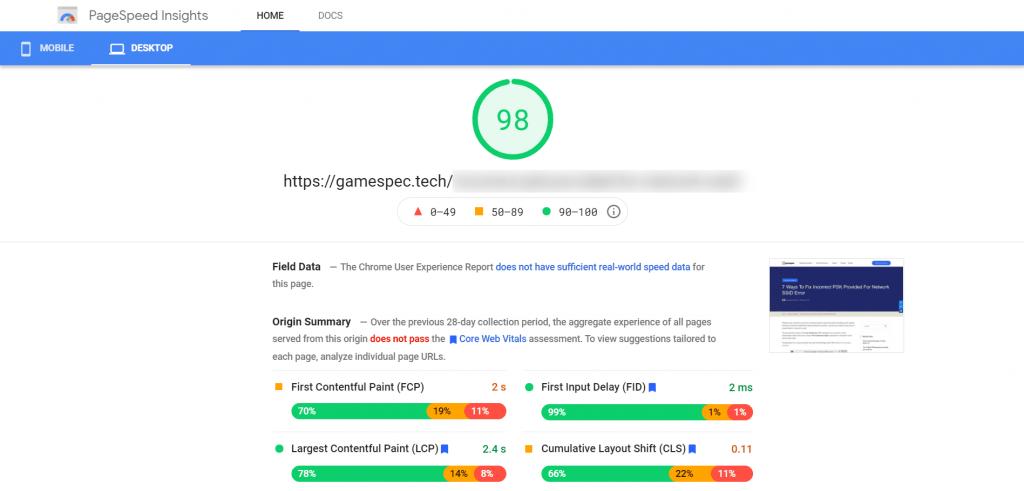 page-speed-insight-desktop-